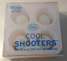 Fred Cool tiradores Cubo de Hielo Bandeja. Chill vasos de chupito de silicona.