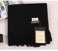 Black Cashmere Shawl Scarf Winter Ladies Stole Blanket Wrap scarves New Women