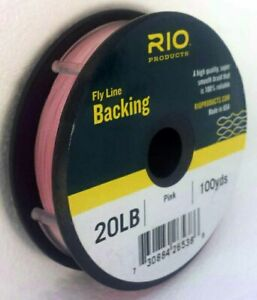 RIO 20 LB 100 YARD SPOOL OF DACRON BACKING IN PINK FLY LINE & REEL BACKING