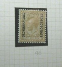 BRITISH BECHUANALAND POSTAGE STAMP SG98 KGV 1/- BISTRE BROWN  UNUSED
