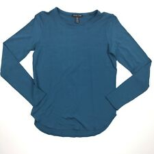 Eileen Fisher Women's Shirt Long Sleeves Dark Green Petite Small Viscose