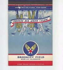 MATCHBOOK COVER WWII US Army Airbase Brookley Field Mobile Alabama