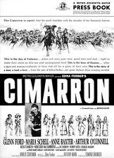 CIMARRON CINEMASCOPE PRESSBOOK Glenn Ford, Maria Schell, Anne Baxter PLUS POSTER