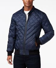 GUESS Adriel Quilted Jacket Blue Mens Size Large New