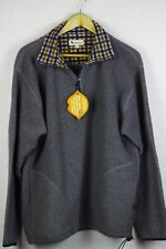RARE Mens AQUASCUTUM Sport FLEECE Sweatshirt COMFEE LOOSE Fit Medium GREY P29