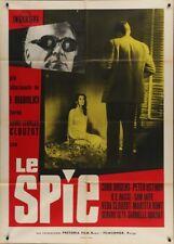 Les ESPIONS Italian 2F movie poster 39x55 HENRI-GEORGES CLOUZOT CURT JURGENS 57