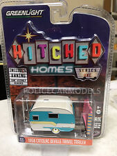 Greenlight 1/64 Hitched Homes 1958 Catolac Deville Travel Trailer  34010