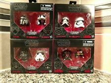 Star Wars Black Series Titanium Helmets 1,2,3 and 4