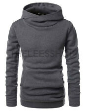 (NKH510) TheLees High neck Kangaroo Pocket Fleece Pullover Hoodie Sweatshirts