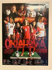 Oklahoma Sooners 2019 Women's Soccer Schedule Poster  Norman OU