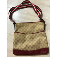 Authentic Gucci Shoulder Bag Crossbody GG Canvas Monogram USED Women Purse G0540