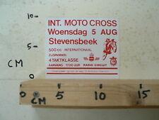 STICKER,DECAL MOTOCROSS STEVENSBEEK 5 AUG 500CC, ZIJSPANNEN, 4-TAKT A