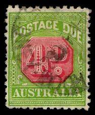 1909-23 AUSTRALIA #J43 POSTAGE DUE - WMK 13 - USED - VF - CV$11.50 (ESP#2215)