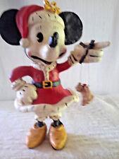 """Disney """"Santa Minni"""" Vintage Holiday Sculpture Iob"""