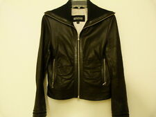 GUESS Women's 100% Genuine Leather Moto Jacket Size S