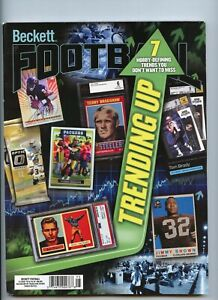 NEW CURRENT BECKETT FOOTBALL PRICE GUIDE MAGAZINE, MAY 2021, (TRENDING UP)