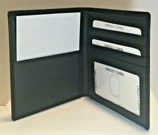 Passport Wallet Leather Black