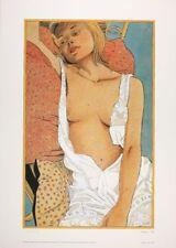 Affiche Offset  Femme aux coussins Bleu Cobalt
