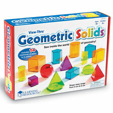 View Thru Colourful GEOMETRIC SHAPES SOLIDS