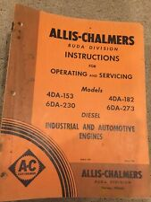 Allis Chalmers Buda Div. Instructions for Operating and Servicing Diesel Engines