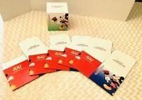 "RETIRED Walt Disney World 100 Yrs Of Magic Mickey 6Pc  6.5""x6.5"" Unused Gift Box"