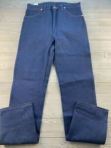 WRANGLER Men's Original Fit Dark Wash Blue Denim Jeans  34x38 New NWT