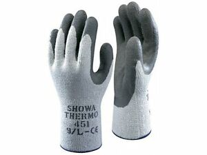 10 x SHOWA 451 Thermo Winter Warm Grip Latex Palm Coated Gardening Gloves 8/M