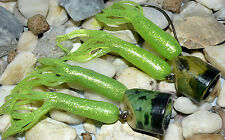 2 RARE WORLDS GREATEST LITTLE FROG WILD LURE MADE IN CANADA WOOD POPPER HEAD #b9