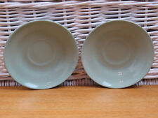 x2 Vintage Wedgwood Celadon Green Replacement Saucers