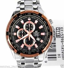 CASIO EDIFICE CHRONOGRAPH EF-539D-1A5V TWO TONE STEEL CASE DATE DISPLAY