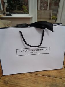 "The White Company Medium Card Carrier Bag 13.5"" x 10"" - 34.5cm x 25cm"