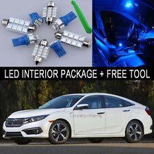 Blue LED Interior Package Light Bulb X Kit For 2001 2005 Honda Civic + Tool J