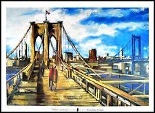 Didier Lourenco Ponte di Brooklyn poster stampa d'arte nel quadro in alluminio nero 70x100cm