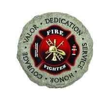 Firefighter Stepping Stone Wall Plaque Home Lawn Yard Garden Decoration