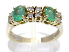 Goldring Ring bague 750 GOLD Brillant 18 Karat Diamant diamonds Smaragd emerald