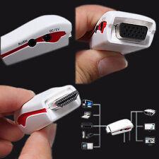 1080P HDMI mâle vers VGA femelle Vidéo Adaptateur Convertisseur Avec Audio & Micro USB Câble