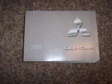 2008 Mitsubishi Lancer DE ES GTS 2.0L Operator User Guide Owner Owner's Manual