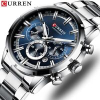 CURREN Men Watch Brand Steel Chronograph Wristwatch Gifts Business Male Watches