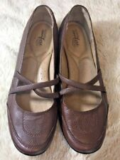 Strictly Comfort Brown Mary Jane Shoes Leather Casual Loafer Flats  Brown 10M