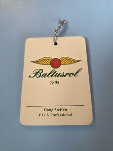 2000 Collectible Baltusrol  GC PGA Doug Steffen PRO NJ Golf Bag Tag Ultra Rare!