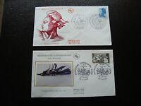 FRANCE - 2 enveloppes 1er jour 1985 (liberte/givors) (cy88) french