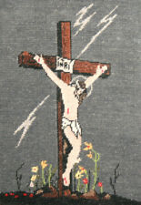 New listing Hand Made Jesus Crucifixion Tapestry Gobelin