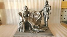 1977 Incredibly Detailed Franklin Mint Pewter Figurine/Sculpture- Betsy Ross