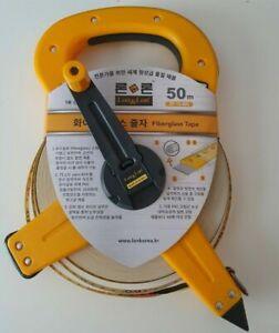 BRAND NEW Surveyors 50m Tape Measure 165ft Heavy Duty Open Reel Fibreglass