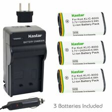 KLIC-8000 Regular Charger& Battery for Kodak Z612 IS, Z712 IS, Z812 IS, Z8612 IS