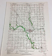 1950 Edition Perry Quadrangle Iowa 15 Minutes Series Topographical Map