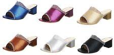 Elegante Damen-Sandalen & -Badeschuhe mit hohem Absatz (5-8 cm) aus Kunstleder