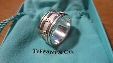 Tiffany & Co. Wide Atlas Numeric Ring Roman Numerals 5 Sterling Silver AG 925