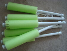 Catfish Noodle Jugs Lime Green Weighted   lot of 6