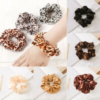 Leopard Velvet Scrunchie Elastic Women Hair Rope Ring Ponytail Holder Hair Bands